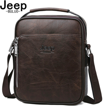 JEEP BULUO Brand High Quality Split Leather Large Capacity Man Bag Men Messenger Bags Crossbody Shoulder Tote Bags For Male New jeep buluo men messenger bag high quality handbags man s black business split leather shoulder bags for men tote 2019 new