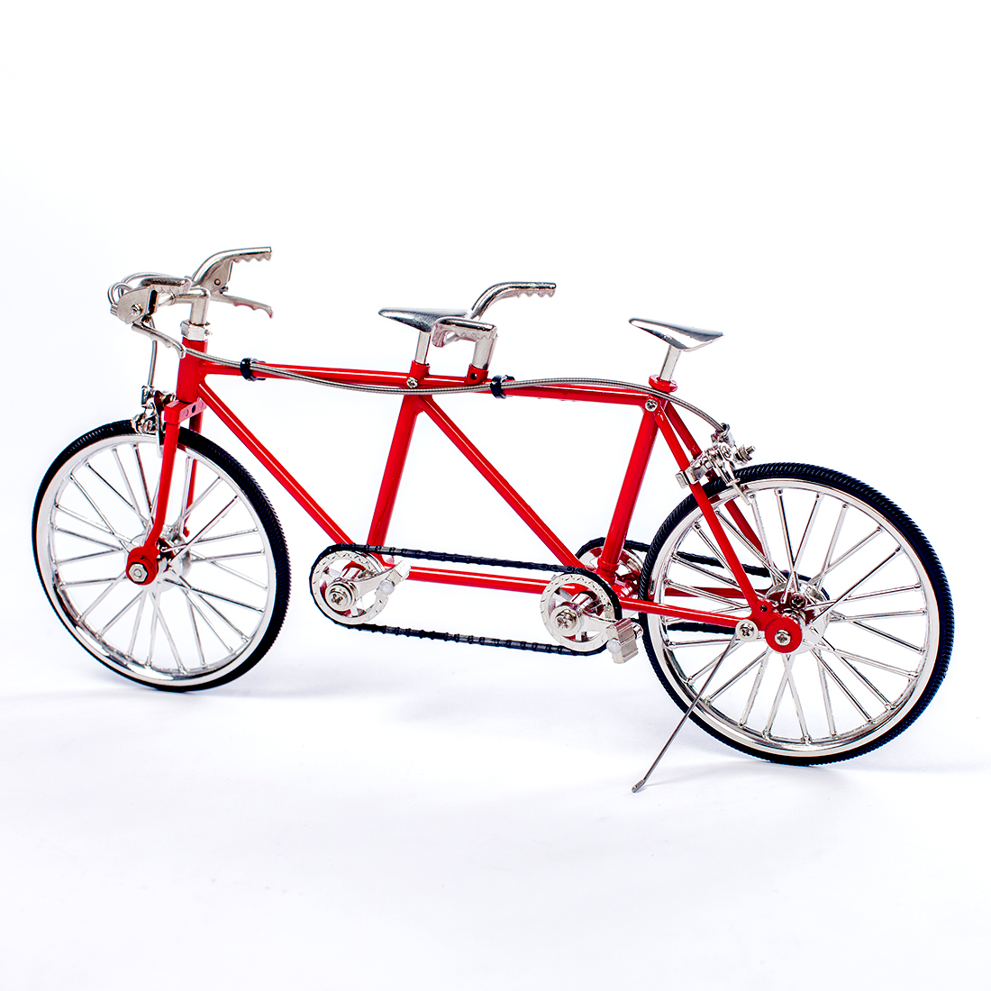 3D DIY 1:10 Metal Assembly Jigsaw Puzzle Tandem Bicycle Model Kit Educational Gift For Family Friends - FS-622