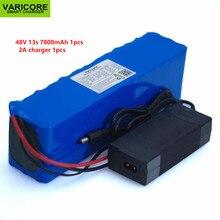 48V 7.8ah 13s3p batteria ad alta potenza 7800mAh 18650 veicolo elettrico moto elettrica batteria fai da te protezione BMS caricabatterie 2A
