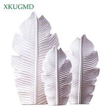 3PCS Feather Ceramic Vase Nordic Style Decoration Office Desktop Flower Arrangement Container Home Pure Handicrafts