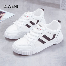 2020 Fashion Women Vulcanized White Sneakers Breathable Flat Casual Classic Shoes Woman Spring Autumn Lace-up Canvas Shoes n101 fashion canvas shoes woman sneakers women vulcanized solid shoes ladies lace up casual shoes breathable walking canvas shoes