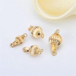 Настоящая G18k Золотая Пряжка для фонарей, устойчивая к аллергии и цвету, соединители для ожерелья, застежки браслета и крючков, аксессуары дл...