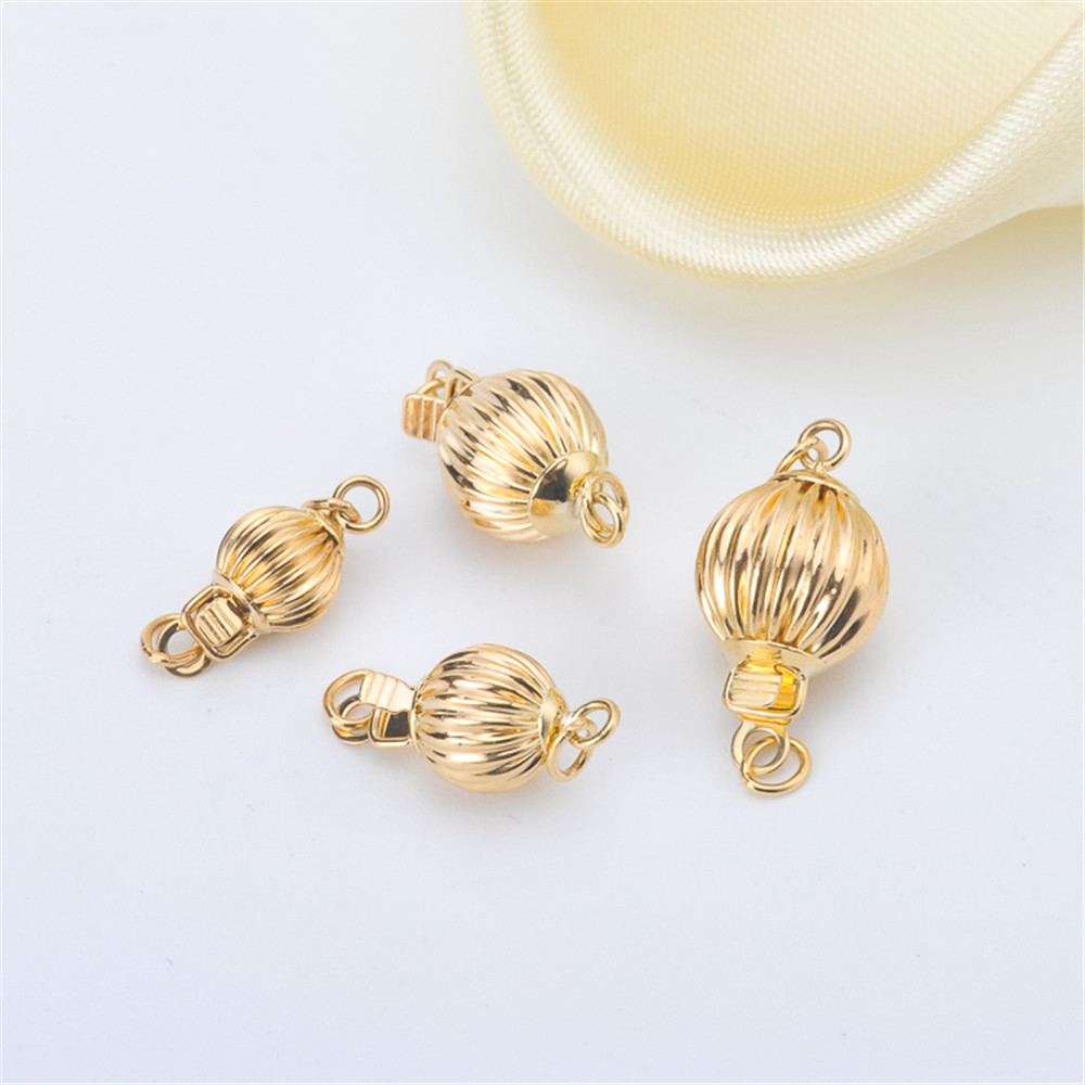 Real G18k Gold Lantern Buckle Allergy Resistant And Colorfast Connectors Necklace Bracelet Clasps&Hooks DIY Accessories AU750
