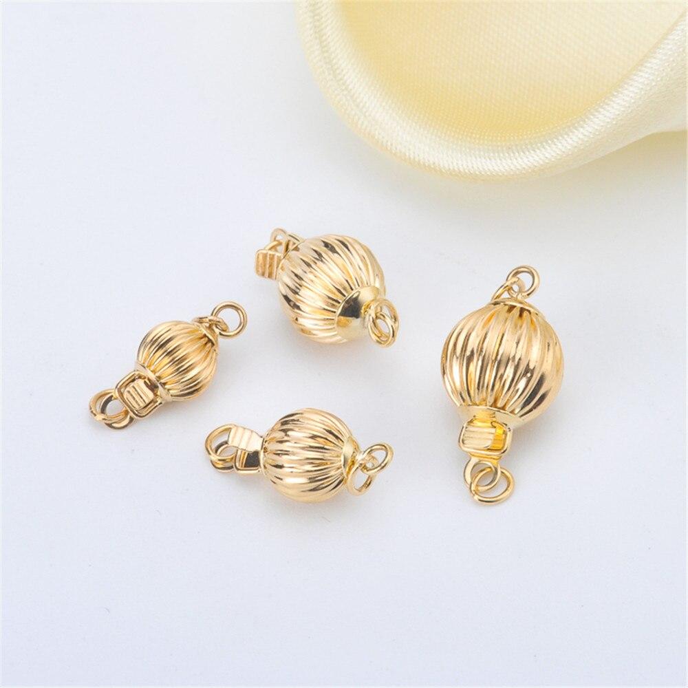 Véritable G18k or lanterne boucle résistant aux allergies et Colorfast connecteurs collier Bracelet fermoirs et crochets accessoires de bricolage AU750