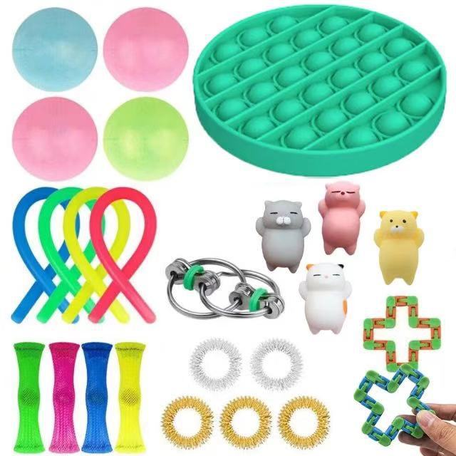 Sensory-Toy-Set Relief-Toys Fidget Anxiety Adults Autism Stress Pop for Kids 23pcs-Pack img4