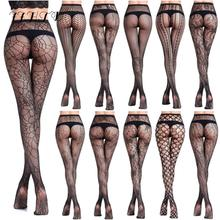 Women Pantyhose Sexy Black Tights Fishnet Stockings Clothes For Panty Lingerie