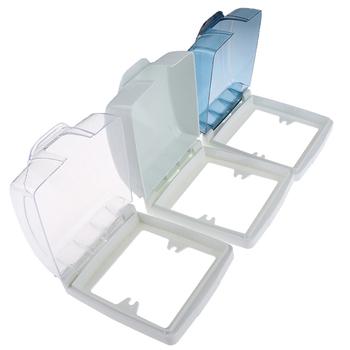 Plastikowy przełącznik do montażu ściennego wodoodporna pokrywa Box 86 typ Panel świetlny gniazdo dzwonek wieczko na zatrzask pokrywa wyczyść łazienka akcesoria kuchenne tanie i dobre opinie CN (pochodzenie) 100 poliester Switch Cover