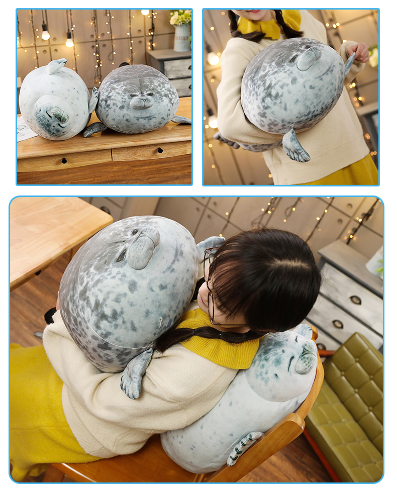 High Quality 80cm Sea Lion Toy 3D Novelty Throw Pillow Soft Seal Plush Stuffed House warming Party Hold Pillow 3