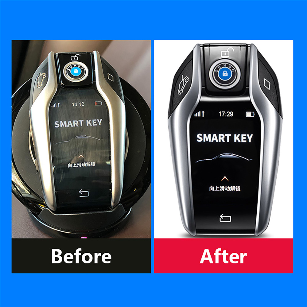 Anti-scratch Touchscreen HD Protective Film For BMW 3/5/6/7 Series Car Key Digital Display Screen Waterproof Protection Film Set