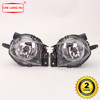 For BMW 3 Series E90 E91 325 328 335 2005 2006 2007 2008 Sedan Front Clear Fog Lights Bumper Lamps With Halogen Bulbs image