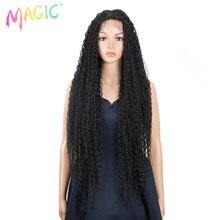 Волшебные длинные вьющиеся Омбре черные блонд пластиковые синтетические