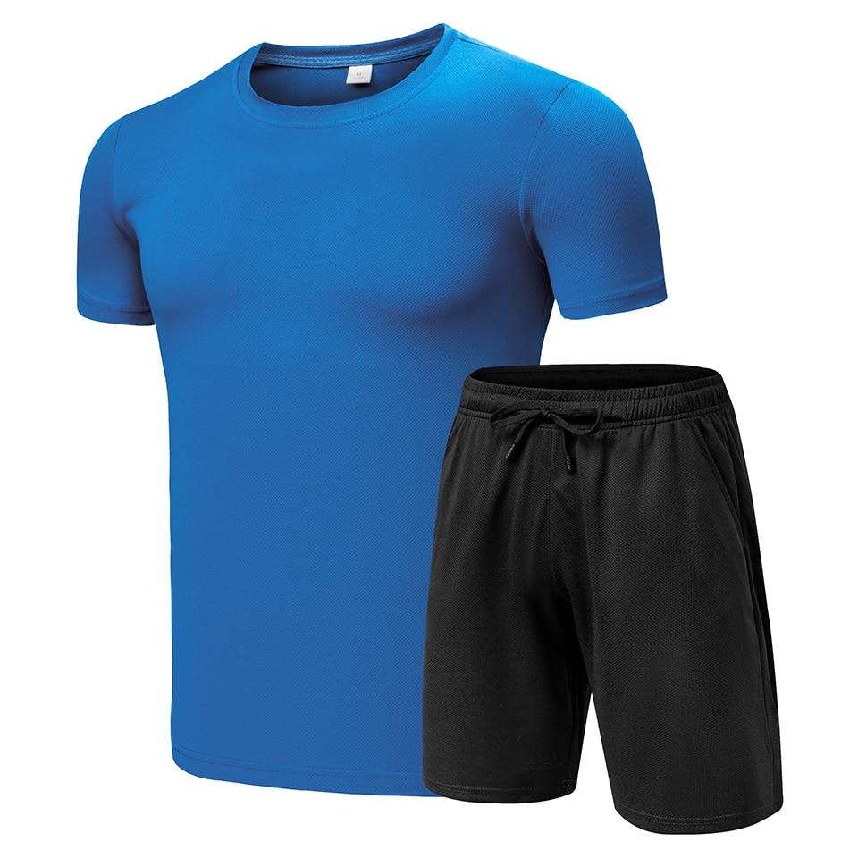 8XL Big & Tall Tracksuit Men 2020 Summer New Sportswear Set Solid Tracksuit Men Shorts + T Shirt Short Suit 2 Piece Loungewear