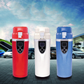 Автомобильная портативная электрическая дорожная нагревательная чашка  12-24 В  350 мл  прочная кружка для закипания кофе  чая  чайника  автомоб...