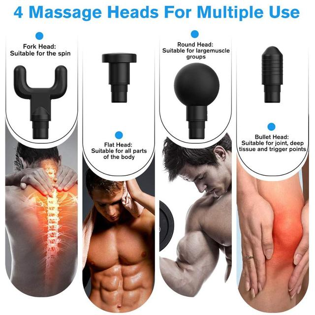 Phoenix A2 Muscle Massage Gun Relaxation Percussion Massager Theragun Electric Muscle Stimulator Fascia Gun Muscle Pain Relief 3
