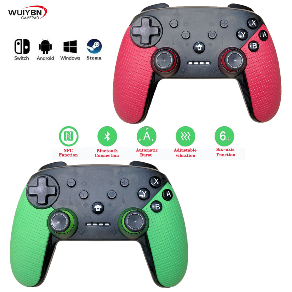 Wireless Gamepads Switch Controller With NFC Amiibo And Six-Axis Gyroscope Function For Nintend PC Steam Game Joystick
