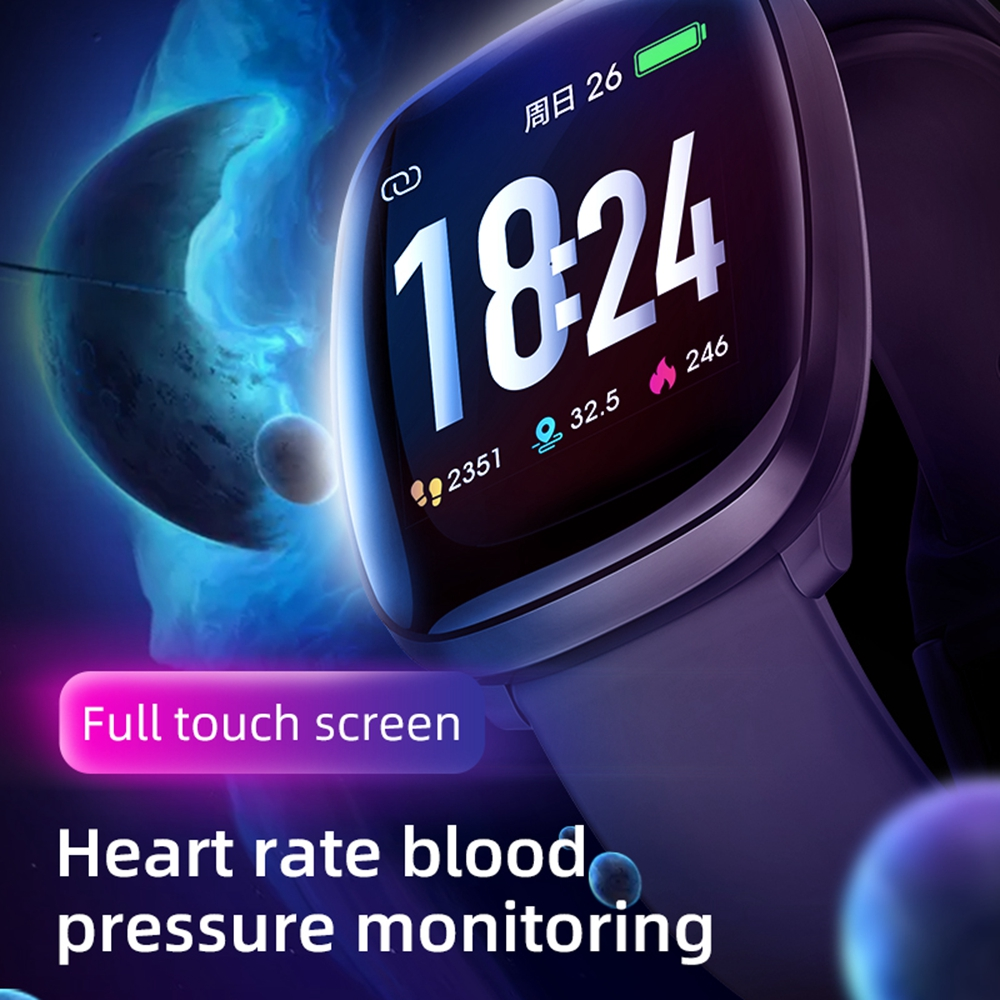 LEMFO Smart Watch Men Full Touch Real-time Heart Rate Monitor Fitness Tracker Waterproof Pedometer Android IOS