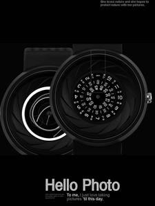 Enmex Quartz Watches Digital-Design Sports Creative Light Men's Fashion Gift Lens Prism