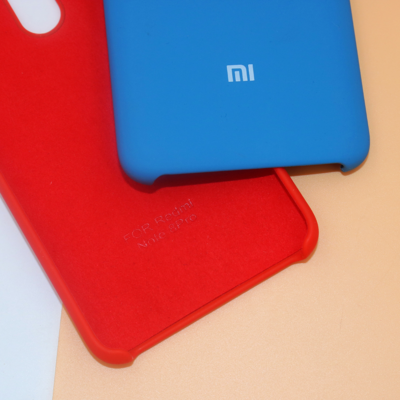 Original XIAOMI Redmi Hinweis 8/8 Pro 8T Flüssigkeit Silikon Fall Seidig Weich-Touch Zurück Abdeckung Für Red mi note8 Pro Telefon Shell 6