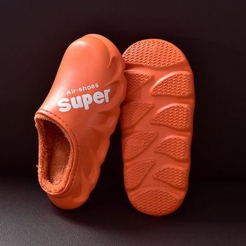 Waterproof Non-Slip Home Slippers Women EVA Slippers Winter Warm Indoor Cotton Shoe Ladies Soft Couples Shoes Thick Bottom 10