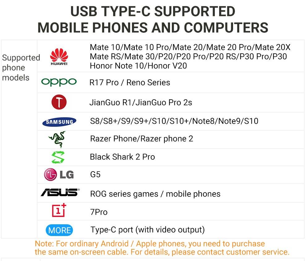 USB C 支持型号