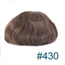 Toupet Lace front wig Mono + PU 6x9 de densité 430, cheveux gris/blanc, brun châtain Medium, # 30%, 90% de densité légère à moyenne, livraison gratuite