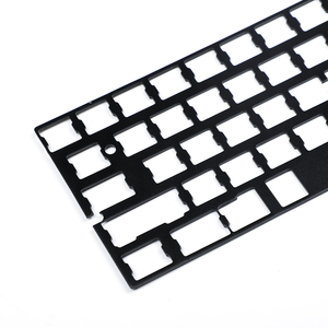 Image 3 - אוניברסלי Anodized אלומיניום מיצוב לוח צלחת תמיכה ISO ANSI עבור GH60 PCB 60% מקלדת DIY משלוח חינם