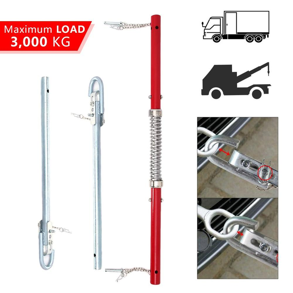 Heavy Duty Steel 3 Ton Tonne Recovery Tow Bar Towing Pole Spring Loaded Damper Traction Trailer Auto Cars Rod
