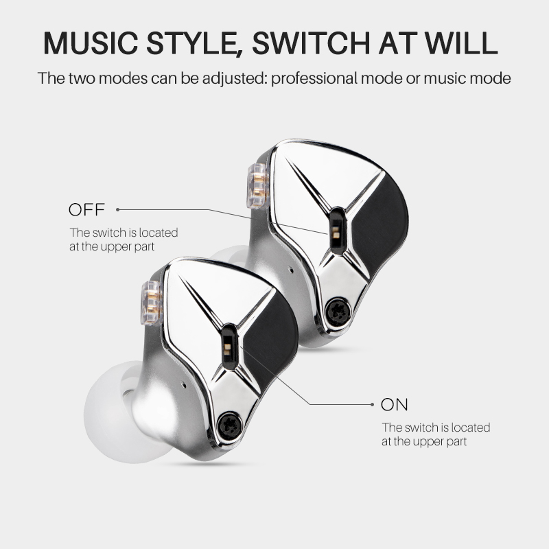 Image 5 - TFZ KING EDITION The Fragrant Zither Stage Monitor Earphone 2Pin HIFI IEM 3.5mm In Ear Sports Dynamic DJ Earbuds Tuning SwitchEarphones   -