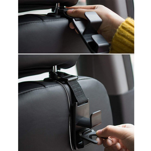 Image 3 - Car Hook Auto Fastener Clip Headrest Hanger Holder for Car Seat Organizer Behind Over The Seat Magic Snap Boards
