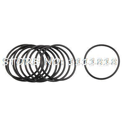 10 Pcs Black Nitrile Rubber O Ring Grommets Seal 37mm X 41mm X 2mm