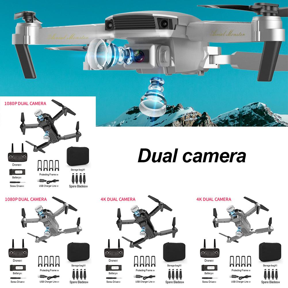 2020 NEW E100 Drone HD Wide Angle 4K WIFI 1080P FPV Drones With Dual Camera Video Live Recording Quadcopter For Beginners