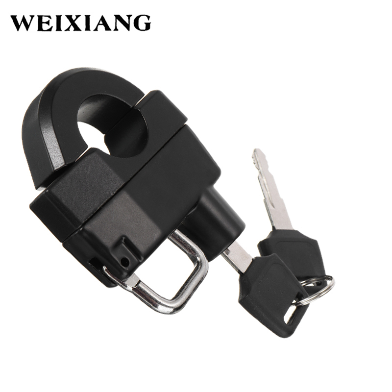 Universal Motorcycle Parts Helmet Lock Anti-Theft Security Aluminum Alloy Locks With 2 Keys For 25mm Handlebar Sports Bike