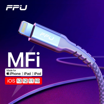 FPU MFi USB Lightning Cable for iPhone 11 Pro Max XR XS X Fast Charging Data Wire Cord for iPhone 8 7 6s Plus iPad Charger Cable mcdodo 18w pd quick charging cable for iphone xs max xr x 8 plus ipad type c to for lightning data cable usb c ios charger cable