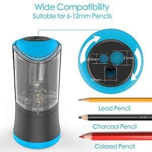 Image 2 - Elektrische Bleistift Spitzer mit Durable Helical Klinge zu Schnelle Schärfen USB Aufladbare Auto Stop Spitzer für 6 12mm durchmesser