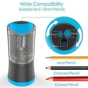 Image 2 - Taille crayons électrique avec lame hélicoïdale Durable, affûteuse rapide, arrêt automatique, Rechargeable par USB, pour 6 12mm de diamètre