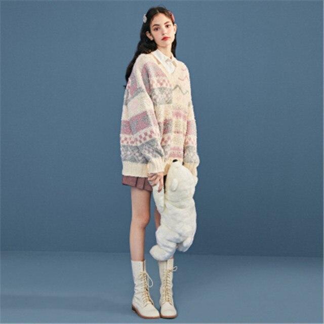 Фото ins/популярные корейские милые винтажные пуловеры с цветочным