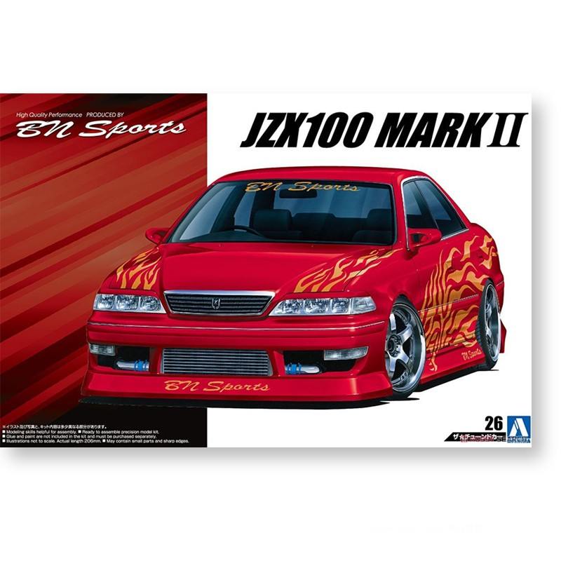Assembly Model 1/24 Toyota JZX100 MARK II `98 05357