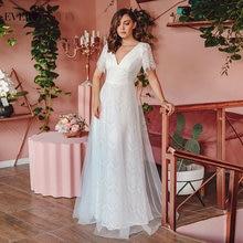 Летнее свадебное платье ever pretty элегантное ТРАПЕЦИЕВИДНОЕ
