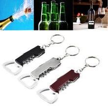 Abridor de garrafa de vinho criativo abridor de garrafa de vinho de aço inoxidável multifunctionial abridor de punho de madeira portátil