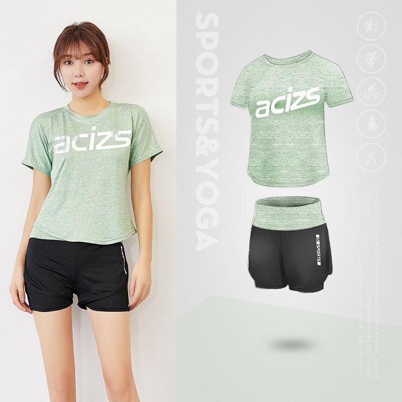 Fitness wear 2 sets of outdoor running women's sportswear, women's dance wear, yoga wear, 2020 quick-drying women's new style