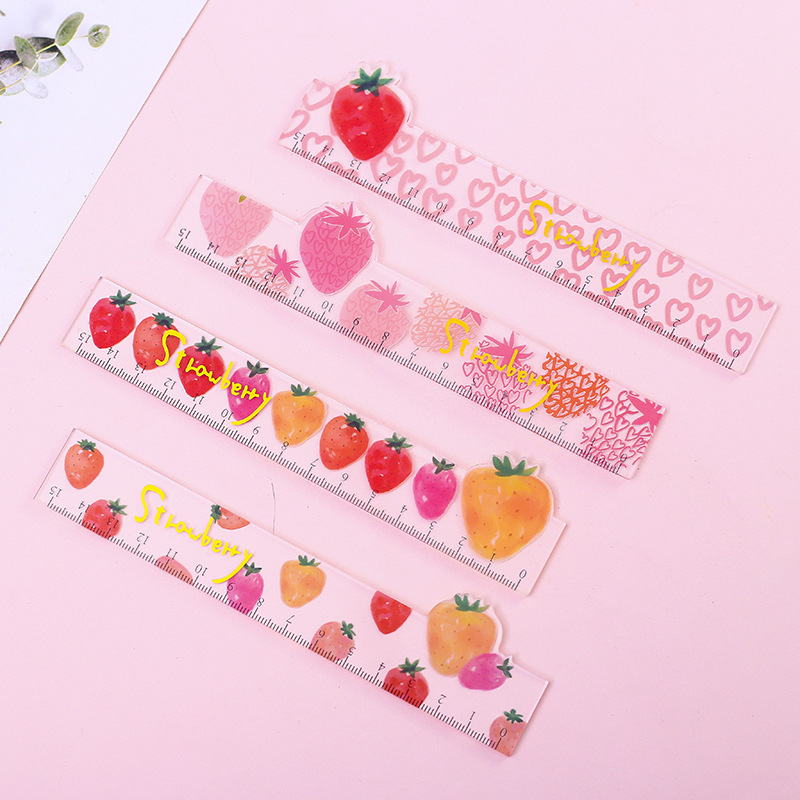 15cm Strawberry Style Ruler Measuring Straight Ruler Tool Promotional Gift Stationery