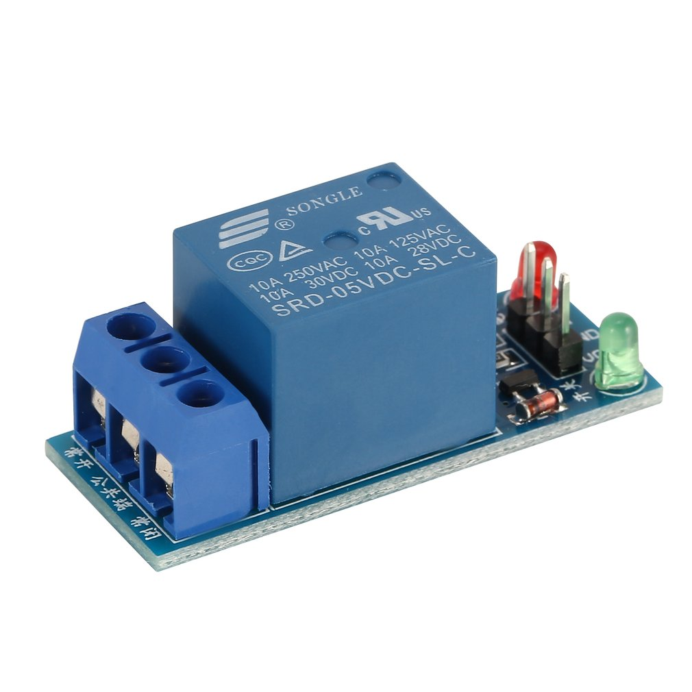 Mini 1 Channel DC 5V Low Level Trigger Interface Board Relay Module With Led Lamp Protective Kit For Electronic
