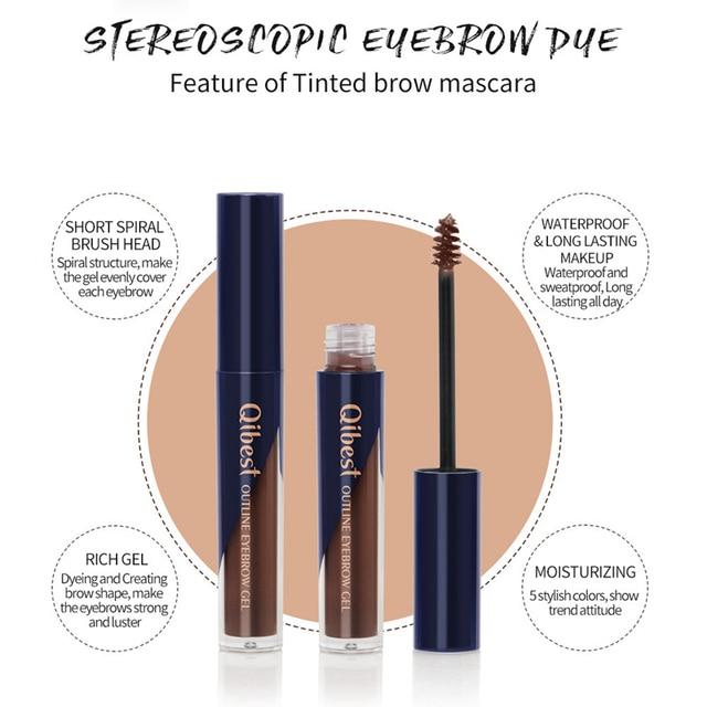 5 Colors Tattoo Makeup Eyebrow Liquid Brows Pigment Tint Long Lasting Natural Waterproof Dye Eyebrows Black Brown Eyes Cosmetics 3