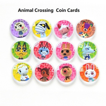 Tarjetas de animales que cruzan a los aldeanos Ntag215, tarjetas circulares para monedas, etiquetas de animales que cruzan nuevos horizontes, tarjetas de juego NFC para Amiibo