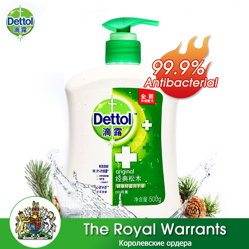 Dettol Hand Wash 500g 99.9% Antibacterial Moisturizing Fragrance Disposable Cleaning Bathroom Hand Wash Gel For Adults Children