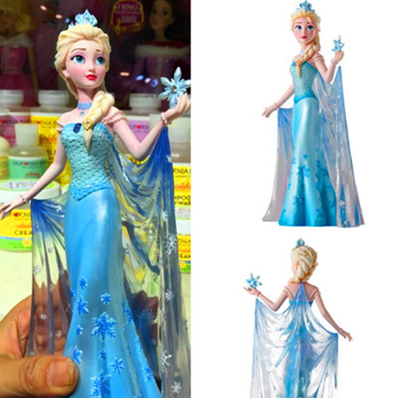 Disney Frozen Anna Elsa Princess Resin Statue Desktop Decor Action Figure Collection Model Toy Children Birthday Gift X4832