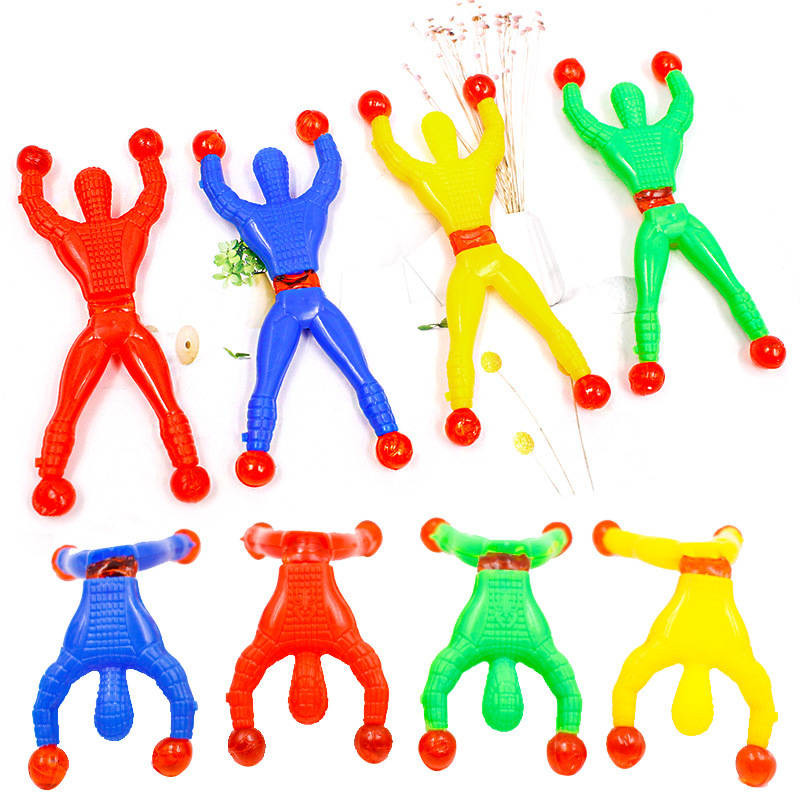 10PCS/Lot Funny Children Sticky Wall Climbing Toys High Elastic  Doors Walls Toys Gift For Kids