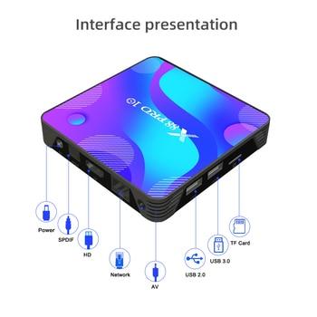 X88 PRO 10 Android 11 Smart TV Box X88 PRO10 4K Media Player Dual Wifi Set Top Box RK3318 Quad Core Google Voice Assistant 4