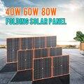 Гибкая Складная солнечная панель, 40 Вт, 60 Вт, 80 Вт, 100 Вт, высокая эффективность, портативная, для путешествий, телефона, лодки, 12 В, 5 В, usb, для те...