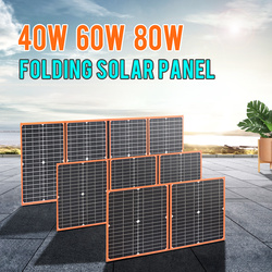 Flexible Foldable Solar Panel 40w 60w 80w 100w High Efficience Travel & Phone & Boat Portable 12V 5v usb for phone camping